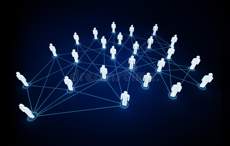 Connexions illustration libre de droits