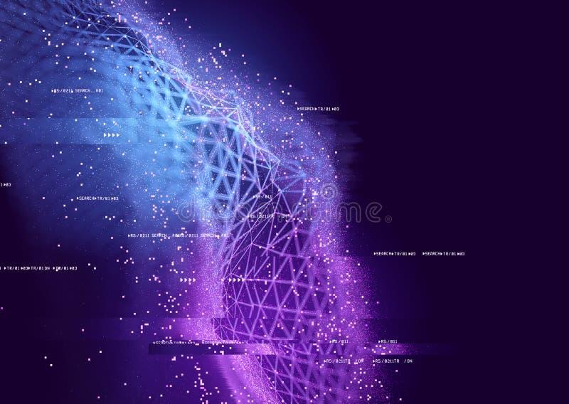 Connexions de données abstraites illustration de vecteur