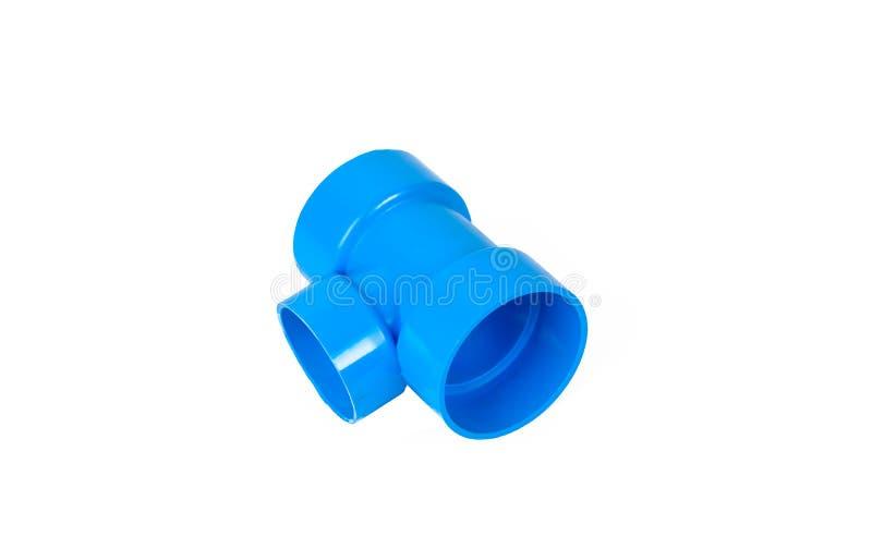 Connexions de tuyau de PVC et agrafe de tuyau d'isolement photos libres de droits