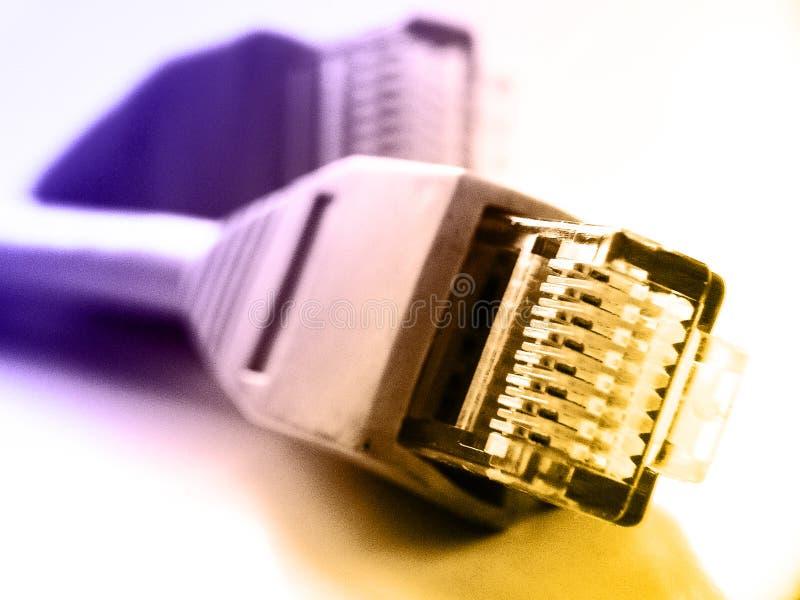 Connexions du réseau rj45 images stock