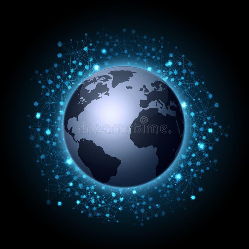 Connexions globales de Web illustration stock