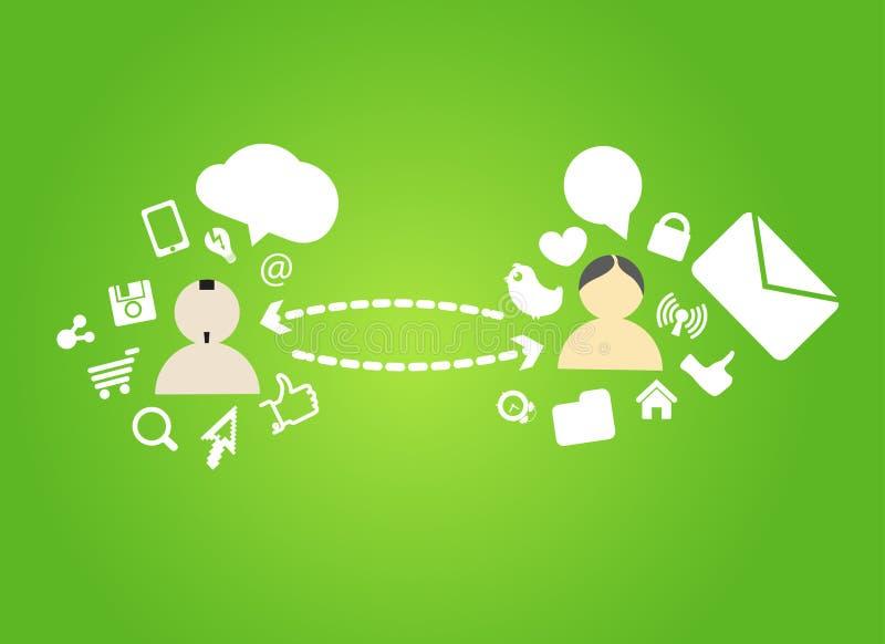 Connexions réseau sociales illustration stock
