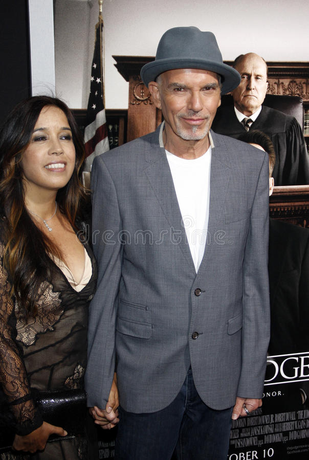 Connie Angland y Billy Bob Thornton foto de archivo