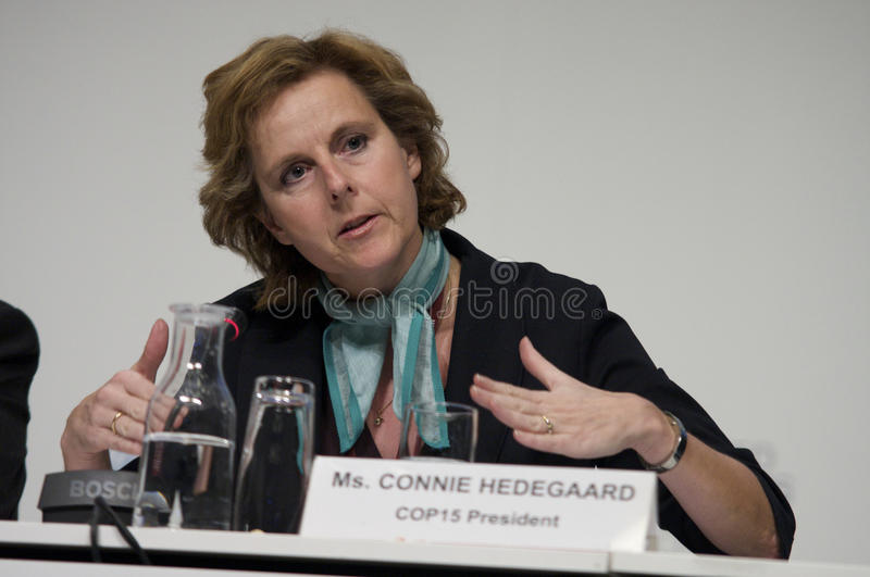 Connie Hedegaard. President of COP15, United Nations Climate Change Conference 2009 and former danish Minister of Climate and Energy royalty free stock photos