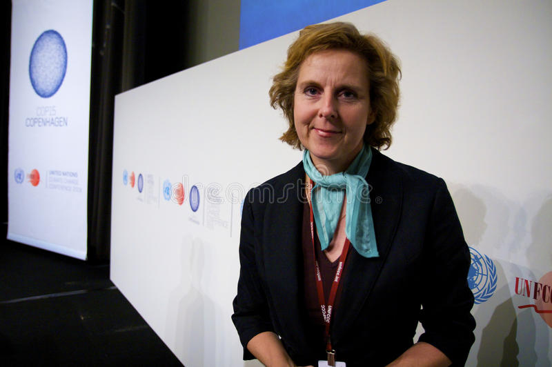 Connie Hedegaard. President of COP15, United Nations Climate Change Conference 2009 and former danish Minister of Climate and Energy stock photo