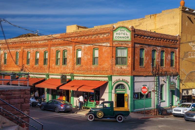 Connor Hotel historique en Jerome, Arizona image libre de droits