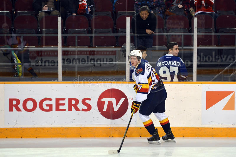 Connor McDavid i Leafs fan obraz royalty free