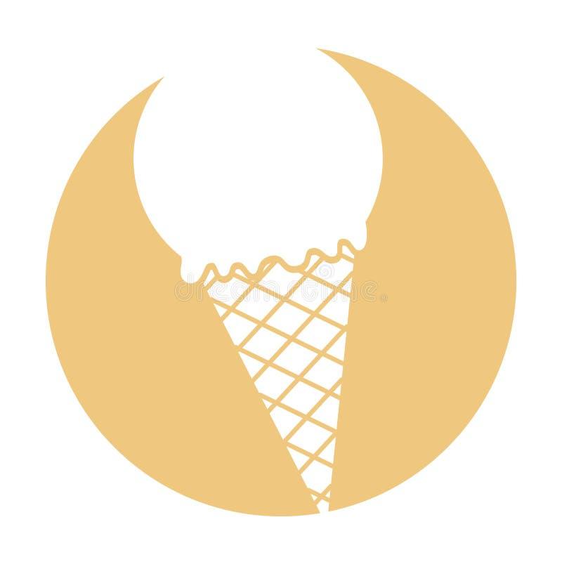Cono de helado delicioso ilustración del vector