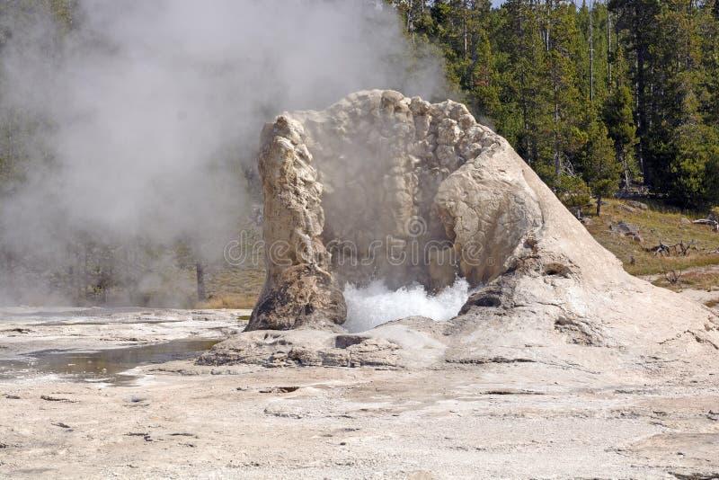Cono del calcare di un geyser attivo immagini stock libere da diritti