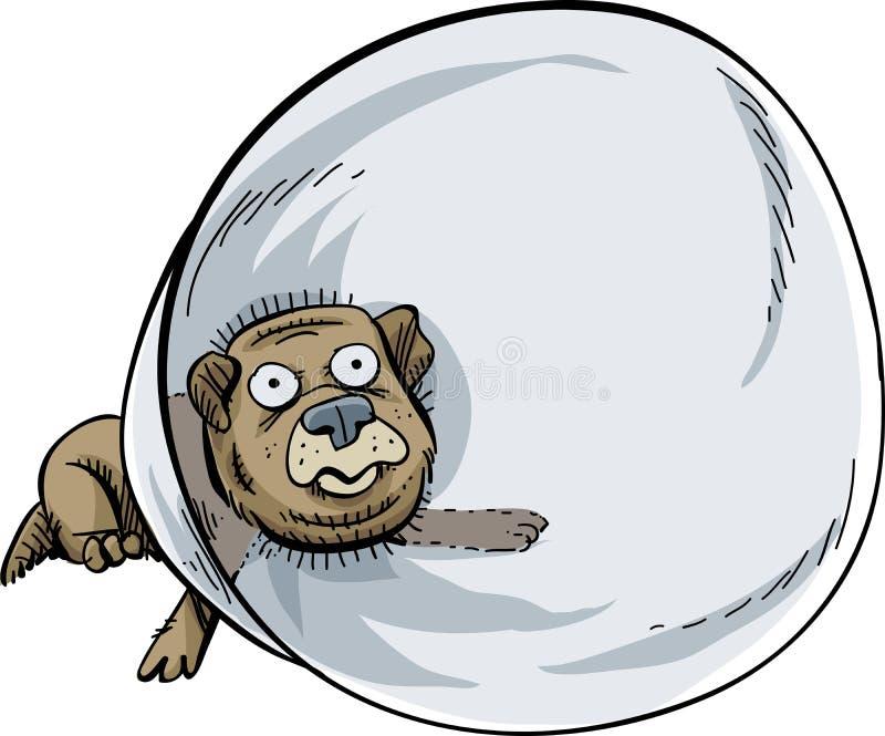 Cono del perro stock de ilustración