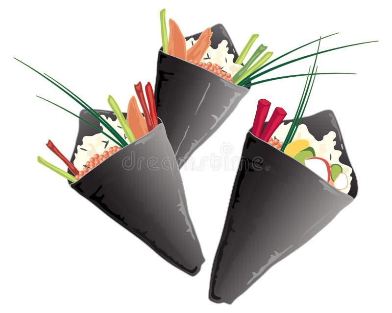Cono del sushi libre illustration