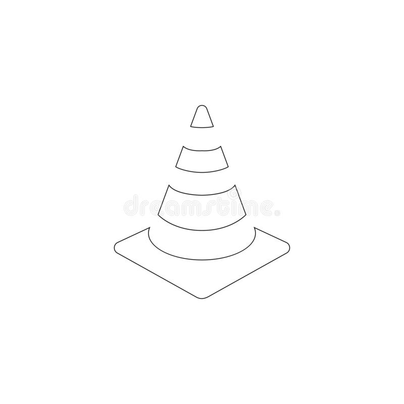 Cono di traffico Icona piana di vettore royalty illustrazione gratis