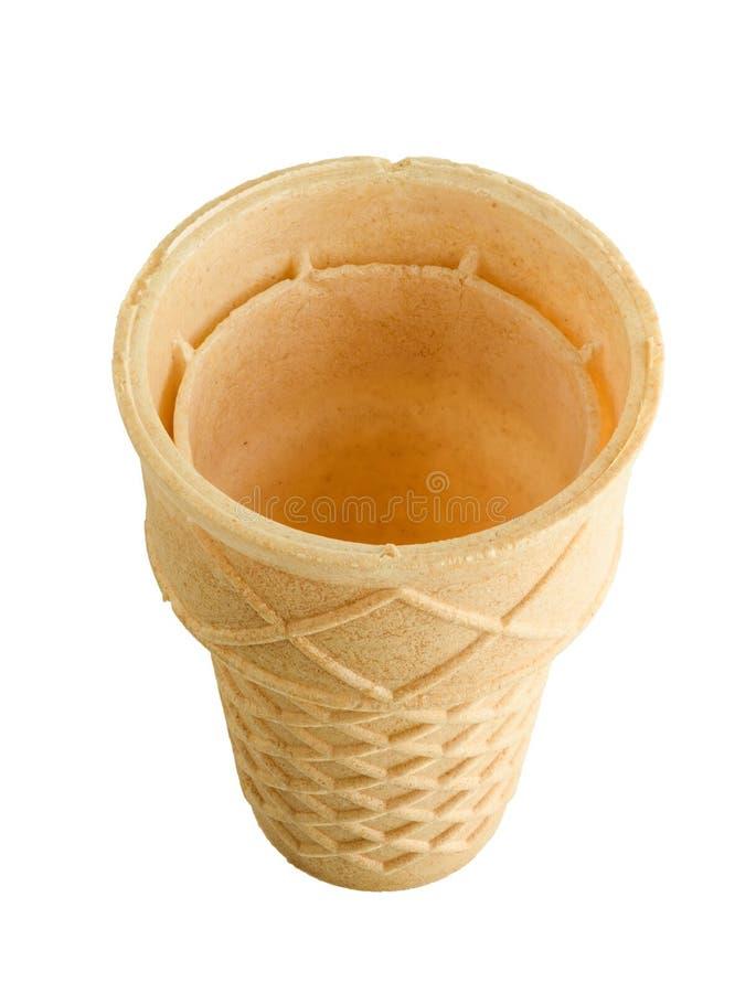 Cono gelato isolato su bianco fotografie stock libere da diritti