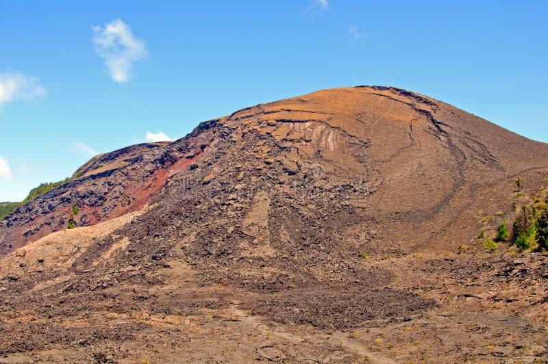 Cono volcánico en Hawaii foto de archivo