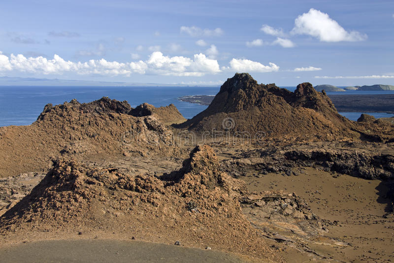 Cono vulcanico - Bartolome - isole di Galapagos fotografia stock libera da diritti