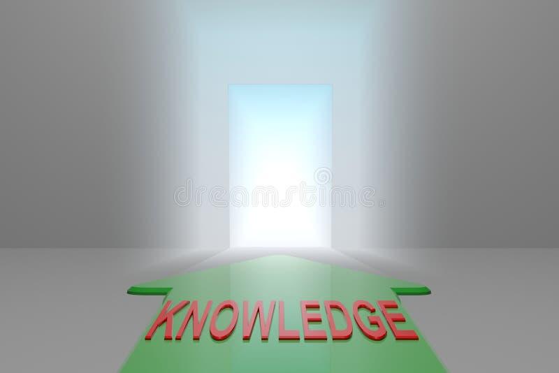 Conocimiento a la puerta abierta stock de ilustración