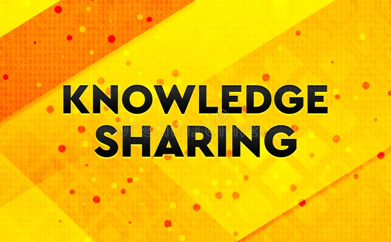 Conocimiento que comparte el fondo amarillo de la bandera digital abstracta ilustración del vector