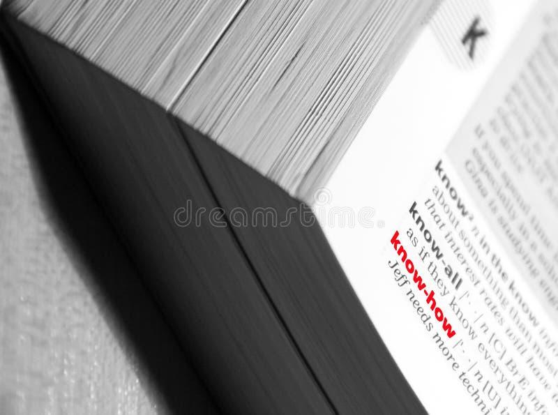 Conocimientos técnicos en diccionario imagen de archivo libre de regalías