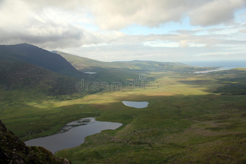 Conor Pass, Ierland stock foto