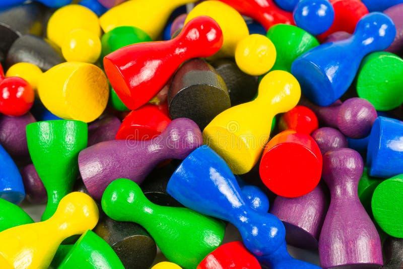 Conos coloreados mezclados del halma que indican ratios de la mayoría foto de archivo libre de regalías