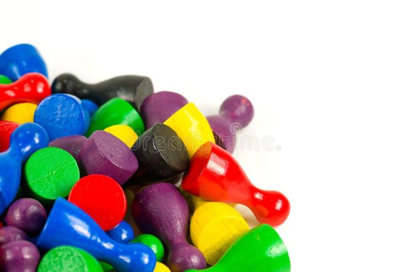 Conos coloreados mezclados del halma que indican ratios de la mayoría foto de archivo