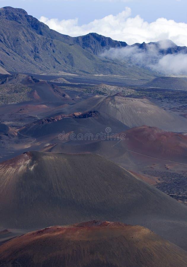 Conos de la escoria de Haleakala foto de archivo libre de regalías