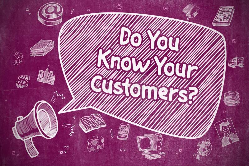 Conoscete i vostri clienti - concetto di affari royalty illustrazione gratis
