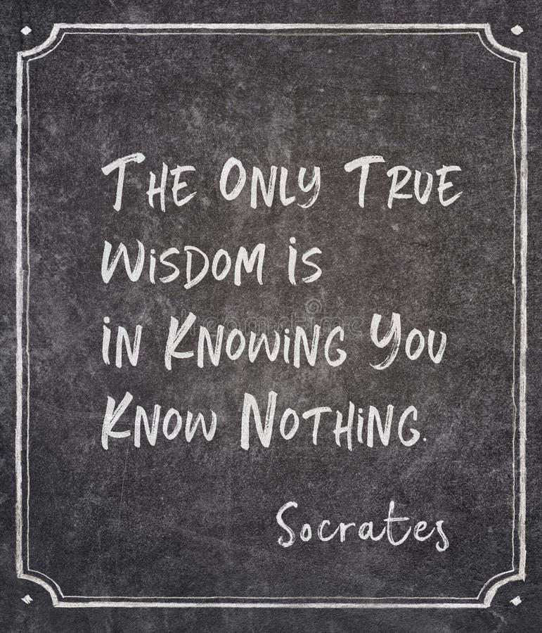 Conoscete la citazione di Socrates fotografie stock