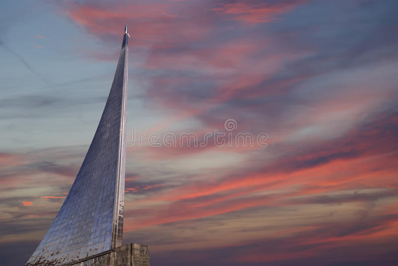 Conquérants de monument de l'espace, Moscou, Russie image libre de droits