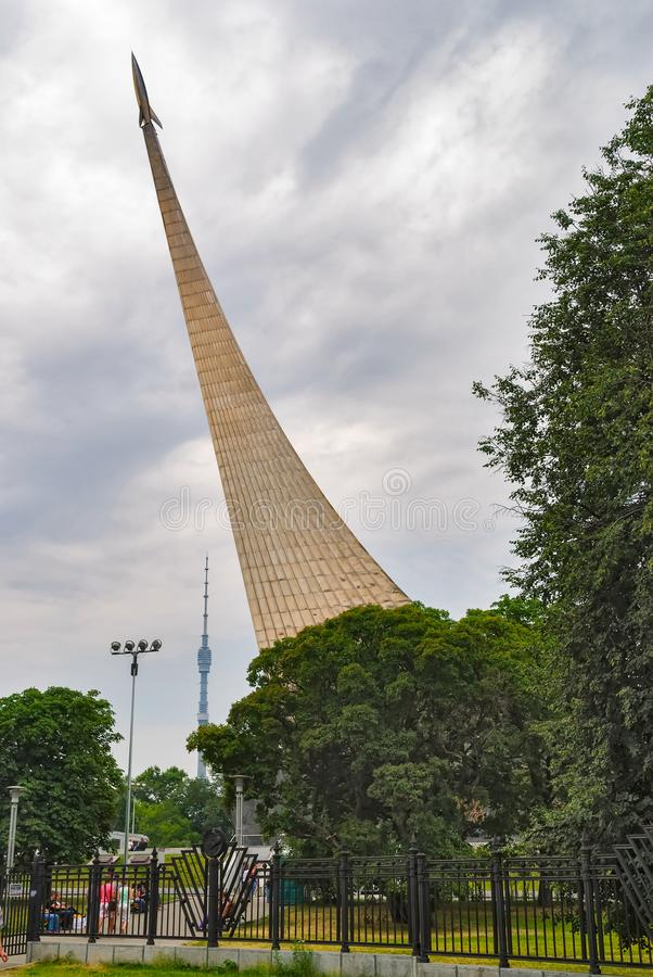 Conquérants de monument de l'espace moscou Russie photos stock