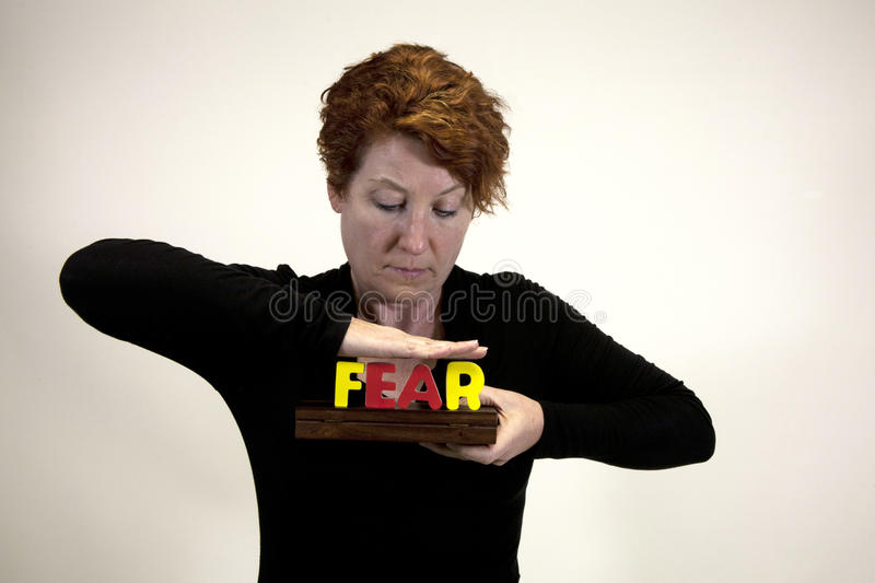Download Conquering fear stock image. Image of crush, caucasian - 23180549