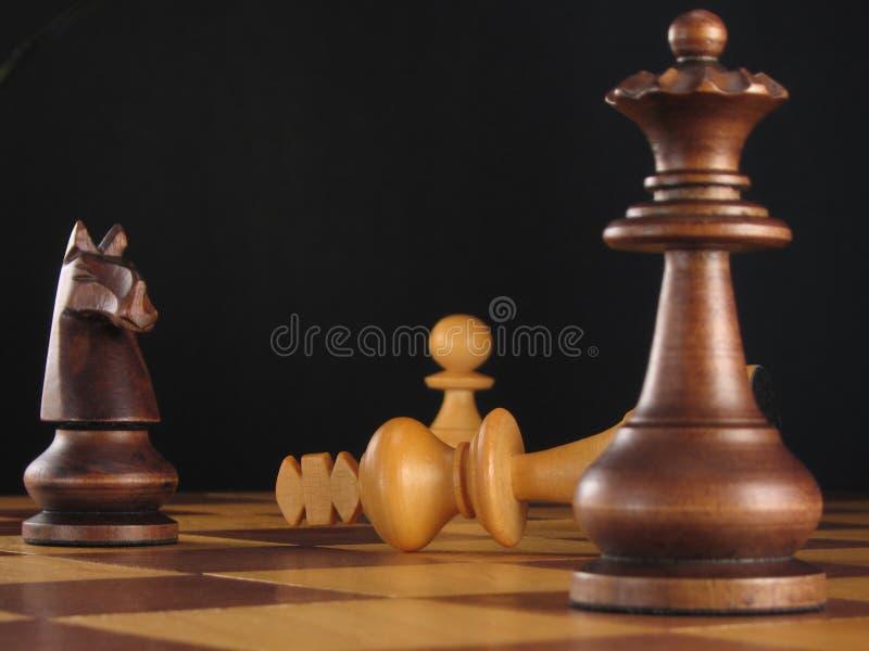 Conquista 2 da placa de xadrez fotografia de stock