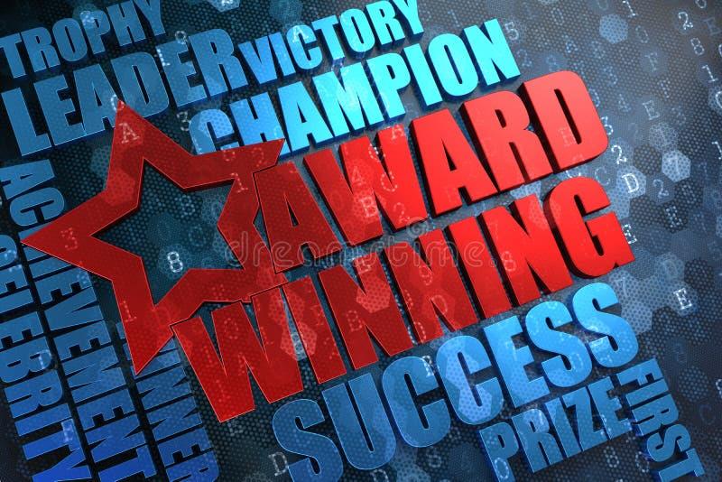 Conquista del premio - concetto di Wordcloud. illustrazione di stock