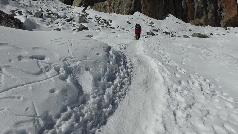 Conquista dell'Everest 2019 Viaggio pericoloso e molto emozionante immagine stock