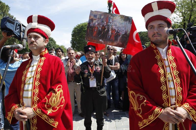 Conquista di Costantinopoli fotografia stock