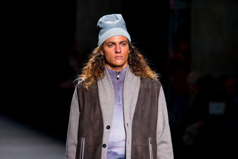 Conrado da Cruz (model) walks the runway for the Torras collection stock photo