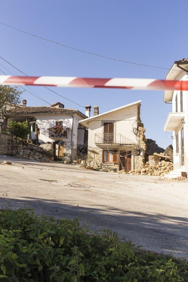Conséquence de tremblement de terre photographie stock libre de droits