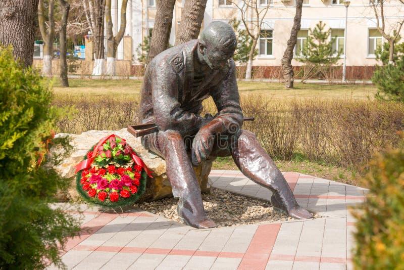 Consacré commémoratif aux guerres des Afghans, dans le parc de mémoire et l'allée de la gloire dans Anapa, Russ photo stock
