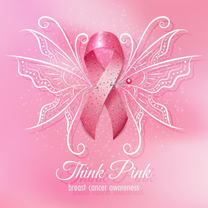 Consapevolezza del cancro al seno illustrazione di stock