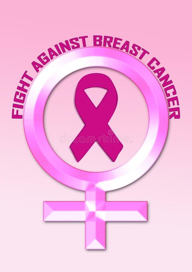 Consapevolezza del cancro al seno di lotta immagine stock