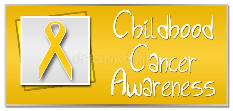 Consapevolezza del Cancro di infanzia illustrazione di stock