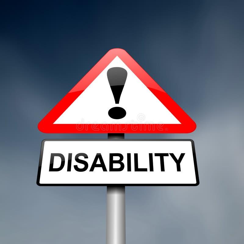 Consapevolezza di inabilità. illustrazione di stock