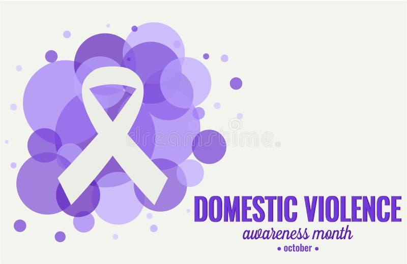 Consapevolezza di violenza domestica royalty illustrazione gratis