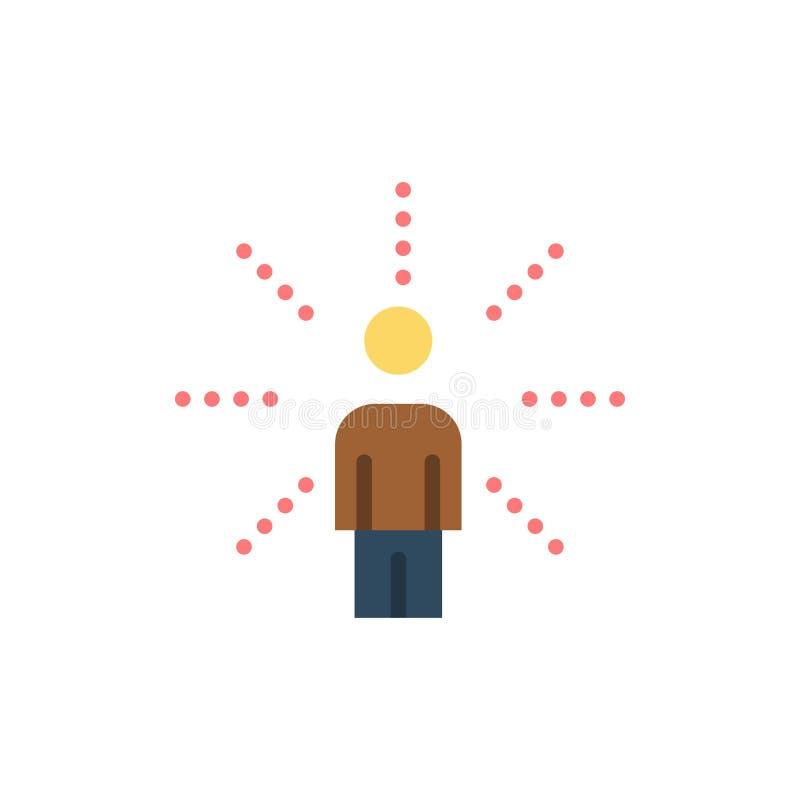 Consapevolezza, tatto, essere umano, percezione, icona piana di colore di senso Modello dell'insegna dell'icona di vettore illustrazione vettoriale