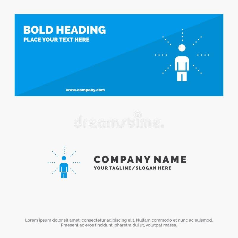 Consapevolezza, tatto, essere umano, percezione, insegna solida del sito Web dell'icona di senso ed affare Logo Template illustrazione di stock