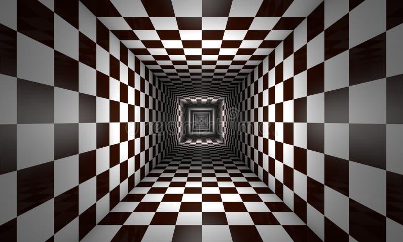 Consciência limitada (metáfora da xadrez) ilustração royalty free