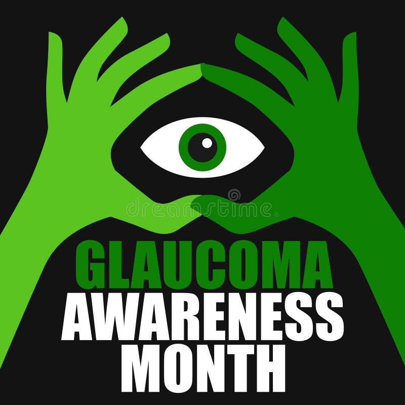 Conscience de glaucome illustration libre de droits