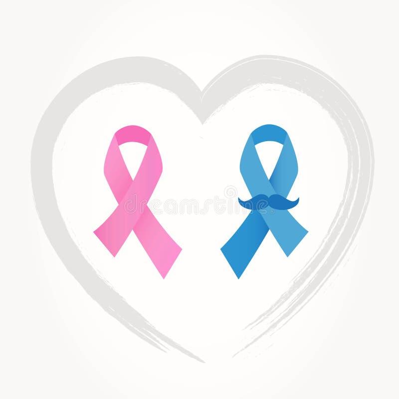 Conscience de rubans de Cancer illustration stock