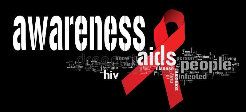 Conscience de SIDA illustration libre de droits