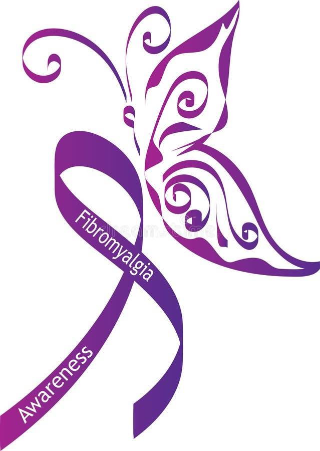Conscientização da fibromialgia ilustração royalty free